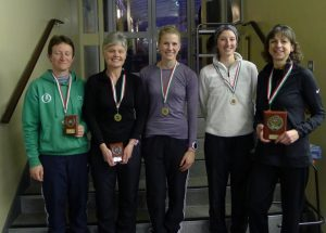 The Ladies Cross Country Team Winners of their league